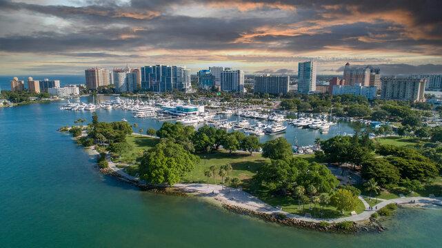 Downtown Sarasota Florida Sunset