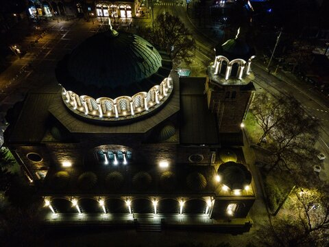St. Kyriaki Cathedral Church in the city of Sofia, Bulgaria