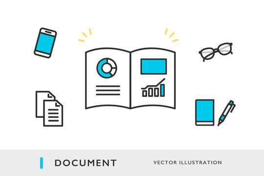 営業資料のイメージイラスト素材