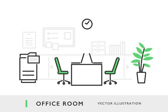 オフィスのイメージイラスト素材