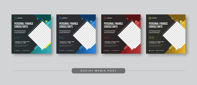 Personal finance consultant social media post template