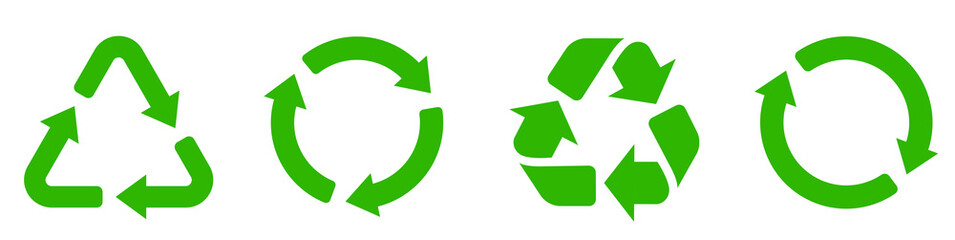 Recycle icon collection. Set recycle signs. Recycle recycling symbol.