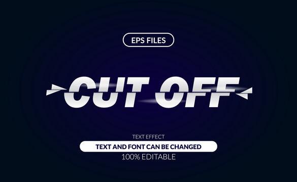 slice slashes cut off editable text effect. modern trim divided. eps file