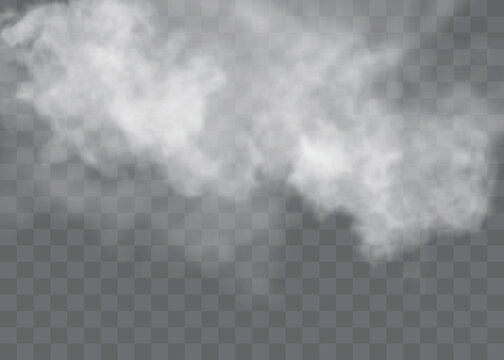 Fog or smoke isolated transparent special effec