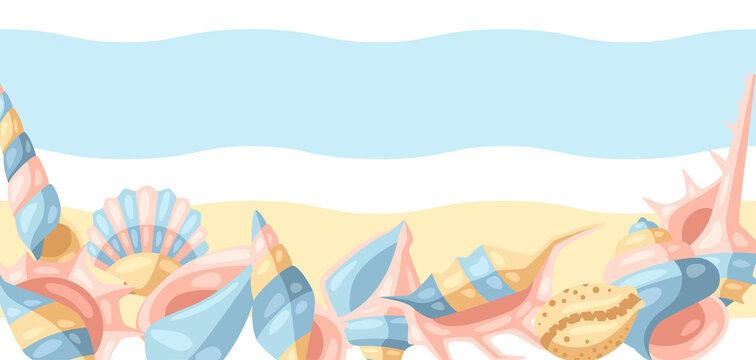 Background with seashells.