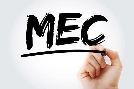 MEC - Mountain Equipment Co-Op acronym with marker, concept background