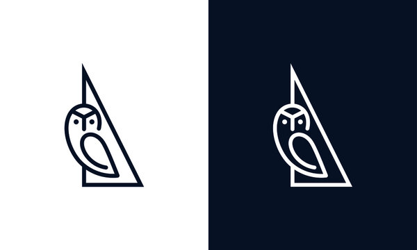 Simple and creative owl logo design vector