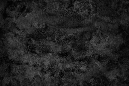 Abstract black watercolor hand paint texture background; Watercolor background.