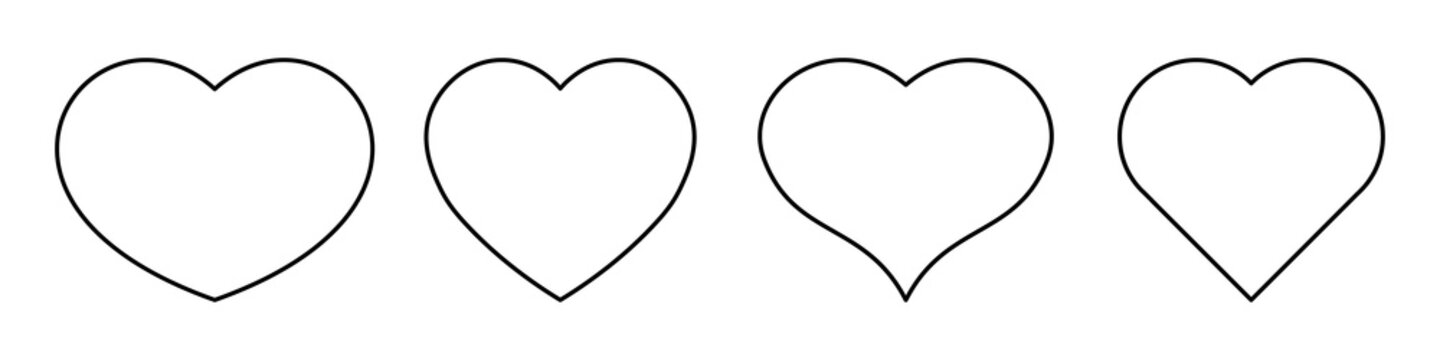 Most popular heart shapes