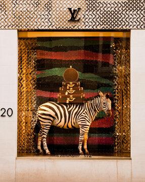LONDON, UK - CIRCA JUNE 2011: Louis Vuitton store window display on Regent street.