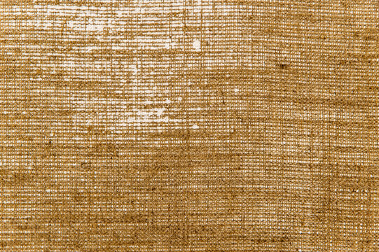 simple linen background: the reverse side of the primed canvas stretched over the frame, close, toning
