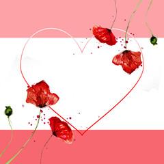 Romantic floral background, Happy Valentine's Day