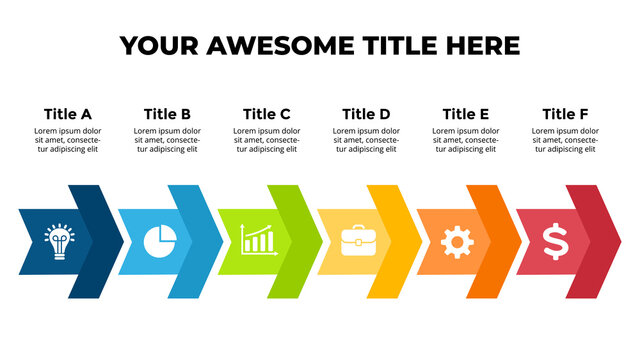Arrows Vector Infographic. Presentation slide template. Chart diagram.