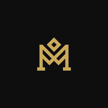 Luxury Letter M Logo Design Vector