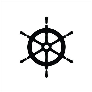 Steering wheel icon isolated on white background. Steering wheel icon in trendy design style. Modern and simple flat symbol steering wheel vector icon for website, mobile, logo, apps, UI.