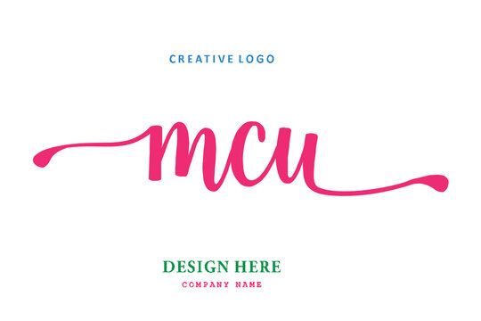 MCU lettering logo is simple, easy to understand and authoritative