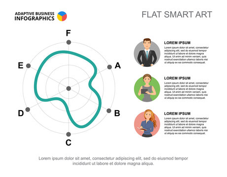 Business infographics with radar chart and character icons