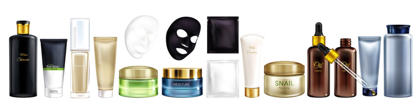 Vector cosmetic products for men and women