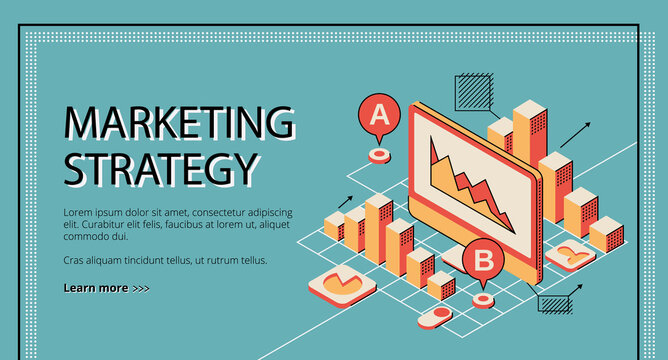 Marketing strategy landing page, database diagram.