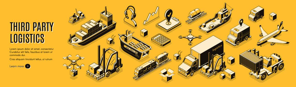 Third party logistics, 3pl, cargo export, import.