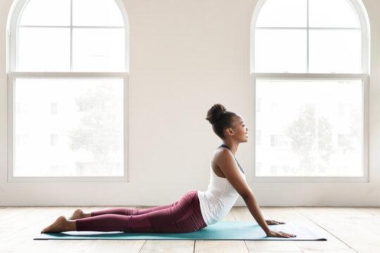 Yoga girl holding a pose