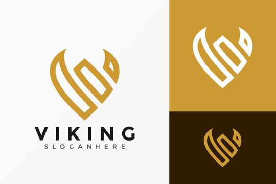 Letter V Viking Logo Design, Creative modern Logos Designs Vector Illustration Template