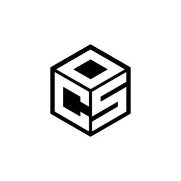 CSO letter logo design with white background in illustrator, cube logo, vector logo, modern alphabet font overlap style. calligraphy designs for logo, Poster, Invitation, etc.