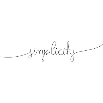 Simplicity. Continuous one line drawing. Minimalism design. Vector illustration.