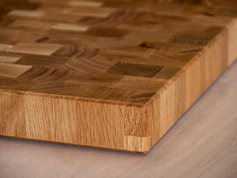 Reclaimed old oak wood end grain cutting board