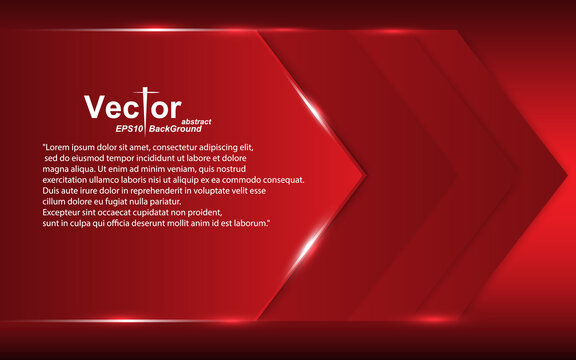 Red arrow Frame banner abstract overlap deep dimension concept layout design style