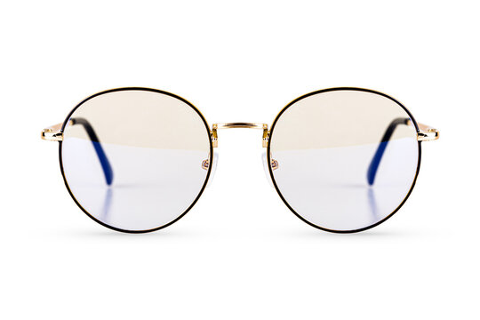 Eyeglasses frame isolated on white background with clipping path