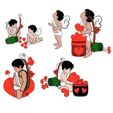 Valentine Cupid Poster Clip Art
