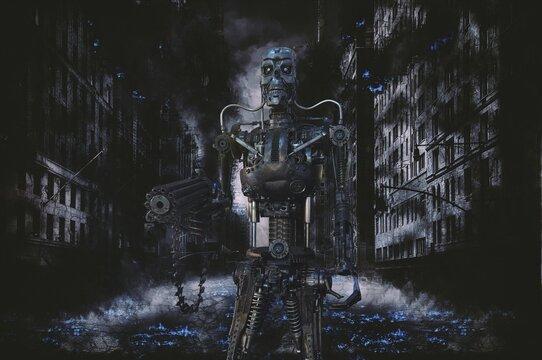 Robot de combat. (bleu)