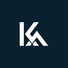 Obraz Initial Letter KA typography logo design vector - fototapety do salonu