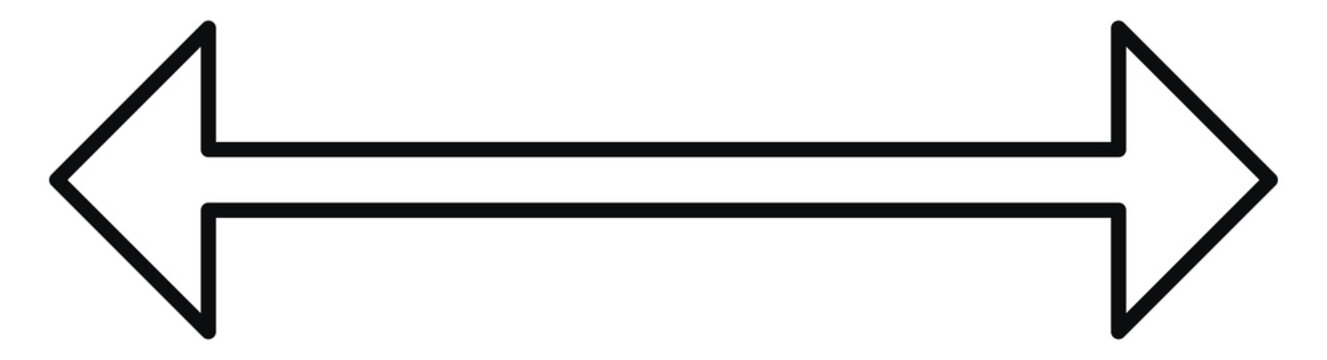 Two full arrows pointing both ways, illustration, vector on white background.
