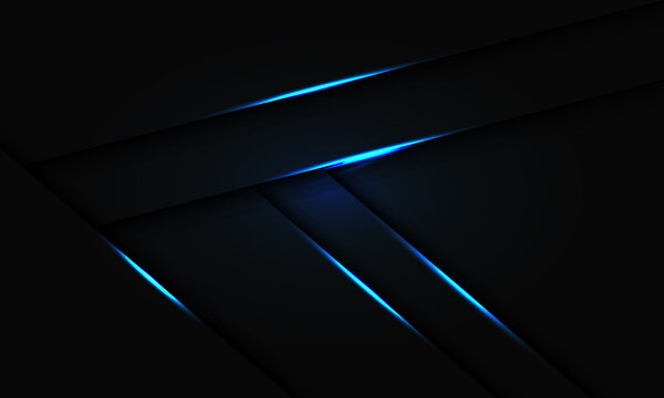 Abstract blue light line shadow overlap on black design modern futuristic technology background vector illustration.