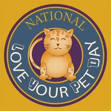 National Love your pet day sign