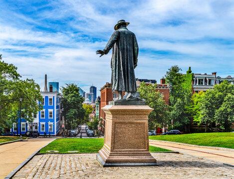 Prescott Statue Bunker Hill Charlestow Boston Massachusetts