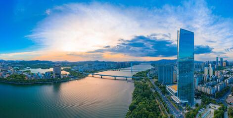 Hesheng Bridge and Huizhou bridge in Huizhou, Guangdong province, China