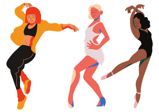 illustration of a cheerleaders -dancing - recreation
