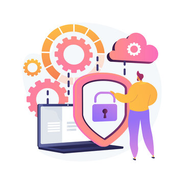 Personal data protection vector concept metaphor