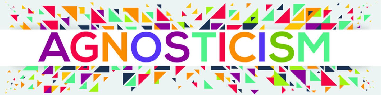 creative colorful (agnosticism) text design, written in English language, vector illustration.