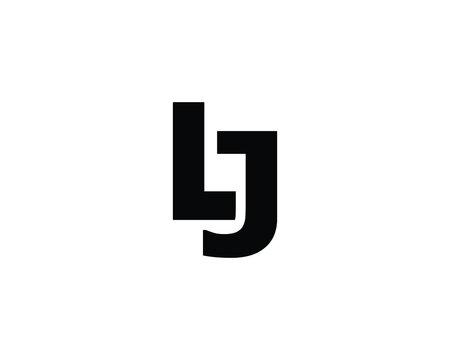 lj jl letter logo design vector template