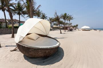 Fototapeta View Of Palm Trees On Beach obraz