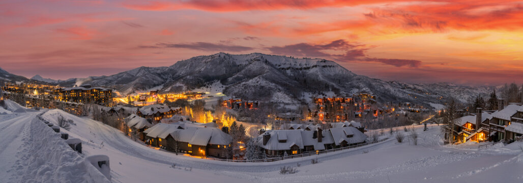 Ski resort in the Rocky Mountains