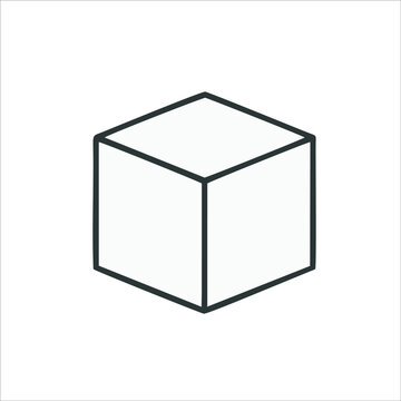 cube icon isolated on white background from graphic design collection. d cube icon trendy and modern d cube symbol for logo, web, app, UI. d cube icon simple sign. d cube icon
