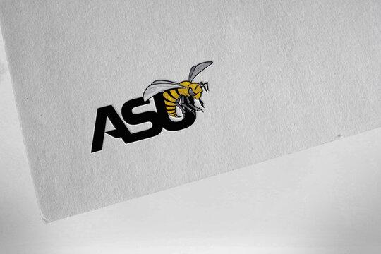 alabama state hornets sports logo