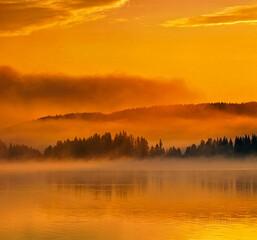 Fototapeta Scenic View Of Landscape During Sunrise obraz