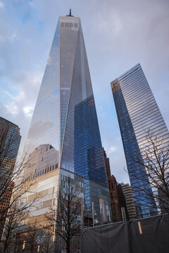 Freedom Tower in  Manhattan., New York One World Trade Center is the tallest building in the Western Hemisphere and the third-tallest building in the world.