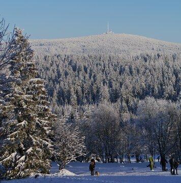 Brocken im Schnee